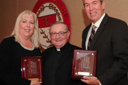 The King's College Alumni Award for Service to Society presented to Joe Hand Jr. and Margaret Hand